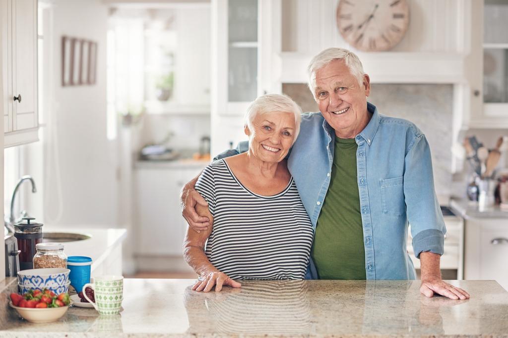 seniores na cozinha